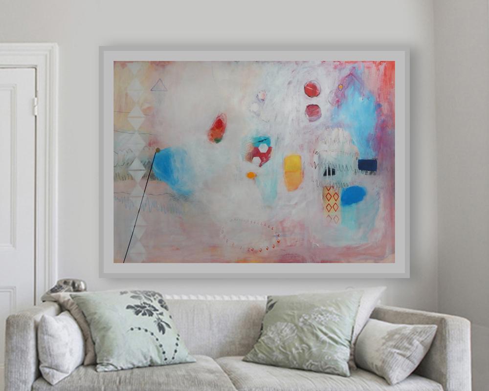 Moderna slika apstrakcija za uređenje novoga stana