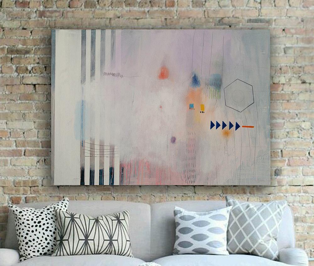 Moderna slika apstrakcija na platnu 110 x 76 cm