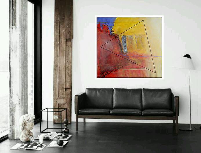 """"""" Spajanje u trokutu """"_platno_90 x 90 cm"""