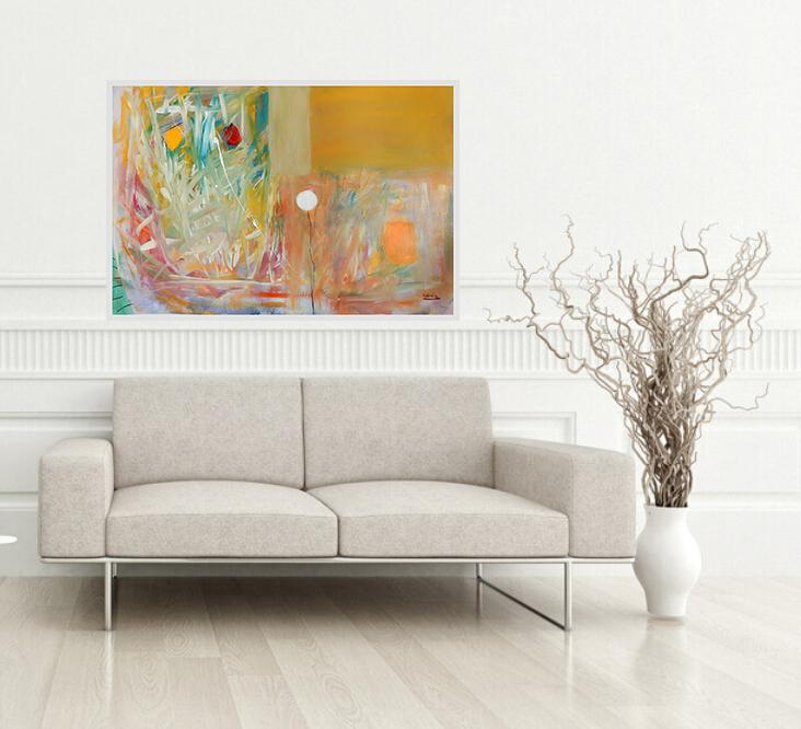 Svitanje, 100 x 70 cm, akril kombinirano na 400g papiru