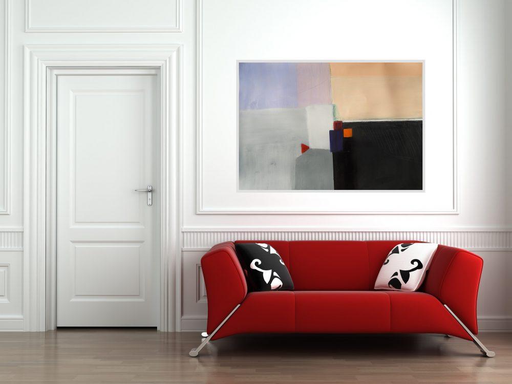 Horizonti, akril kombinirano_400g papir_100 x 70 cm