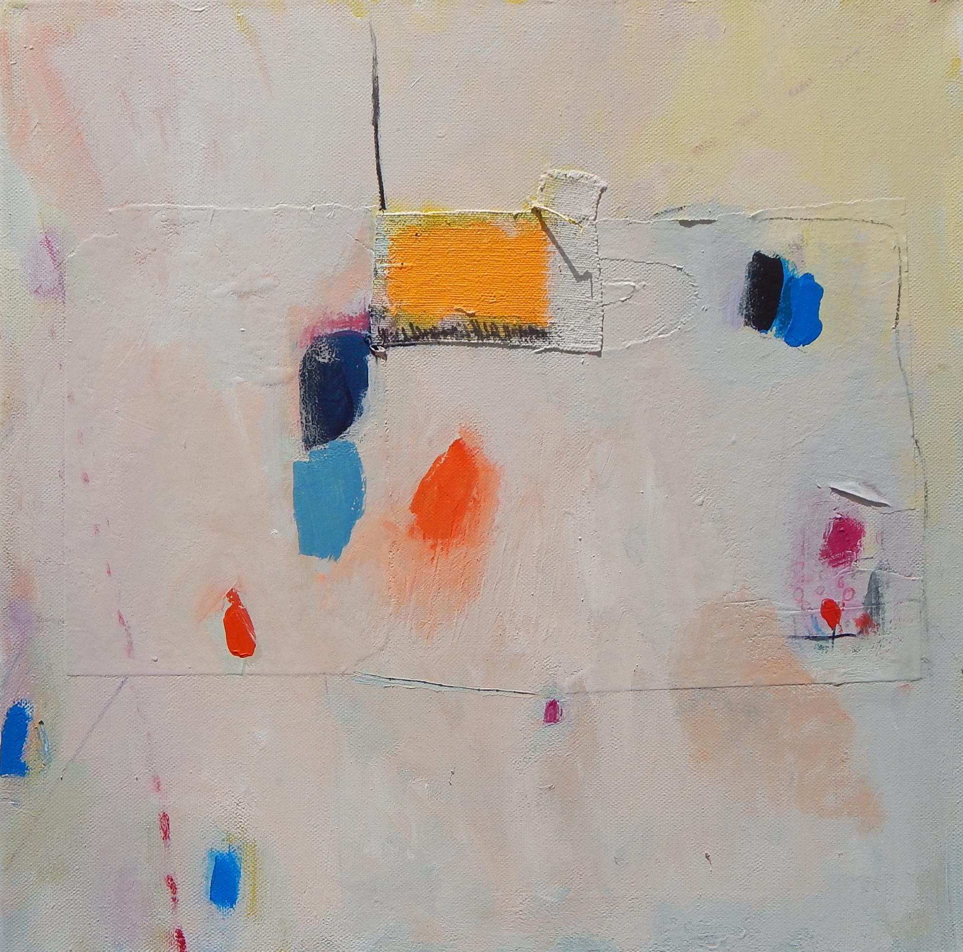 apstraktna slika na platnu