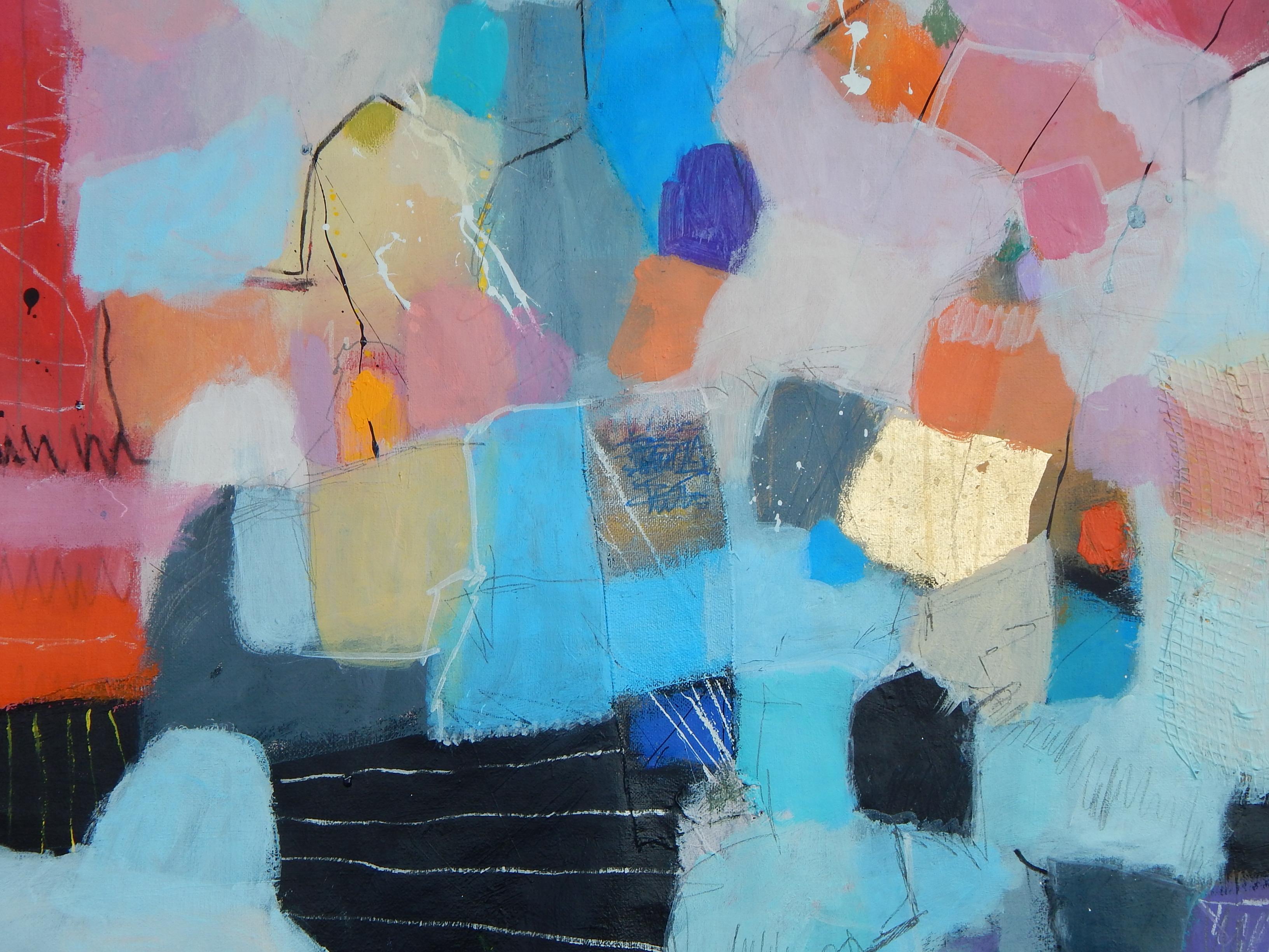 """Originalna apstrakcija na platnu iz ciklusa """"Urbanih pejzaža"""""""
