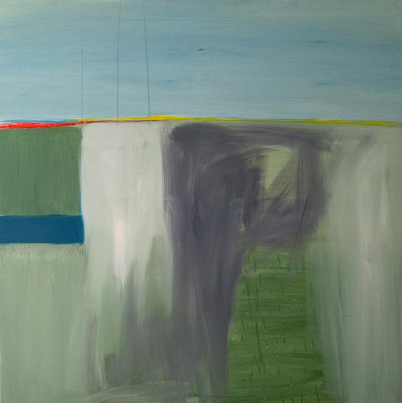 """""""Jutarnji horizont""""_akril na platnu_100 x 100 cm"""