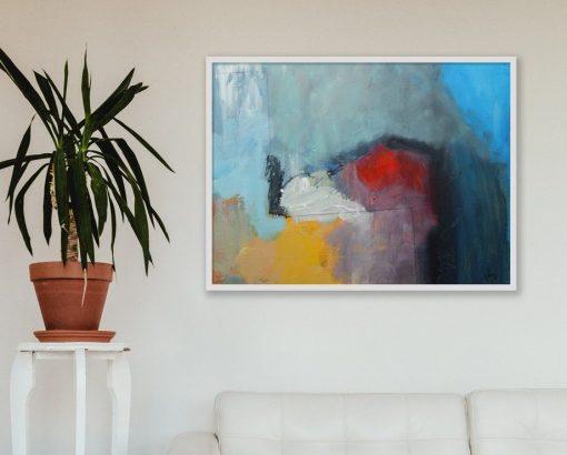 Moderna apstraktna slika na platnu Ranka Ajdinovića