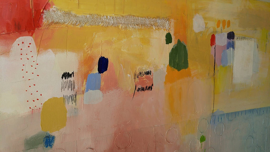 Moderna apstraktna slika velikog forma na platnu_zidno slikarstvo_akril 100 x 100 cm (4)