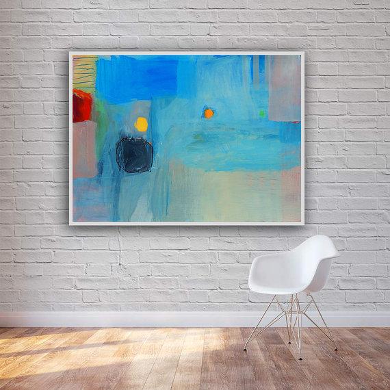 Moderna apstraktna slika morski pejzaž_urbani pejzaž 8_horizontalne dimenzije 100 x 70 cm_ajdinović ranko (1)