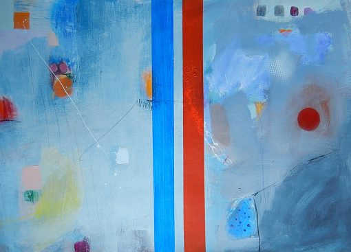 Apstraktna umjetnost ajdinović ranko, moderne slike, crveno plave boje