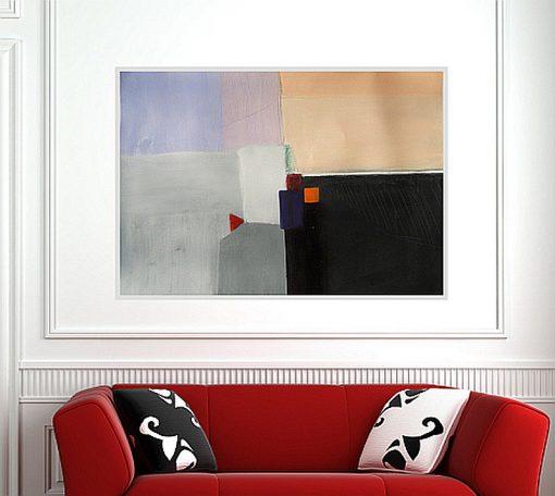 Moderna slika za dnevni boravak, originalna apstraktna umjetnost, Ajdinović