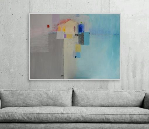 Suvremena slika za modernu kuću stan ili ured, velike dimenzije na platnu, ranko ajdinović