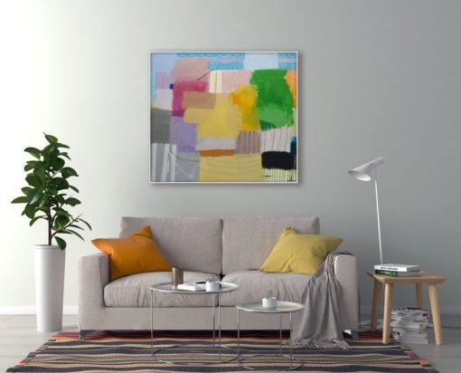 Ajdinović Ranko moderna slika, velika umjetnička slika apstrakcija, original (1)