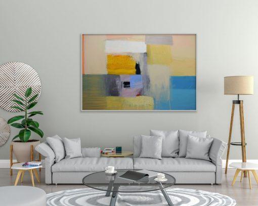 Ajdinović Ranko velika moderna slika apstraktna umjetnost na platnu_Unutarnji pejzaž O20_100 kb (1)