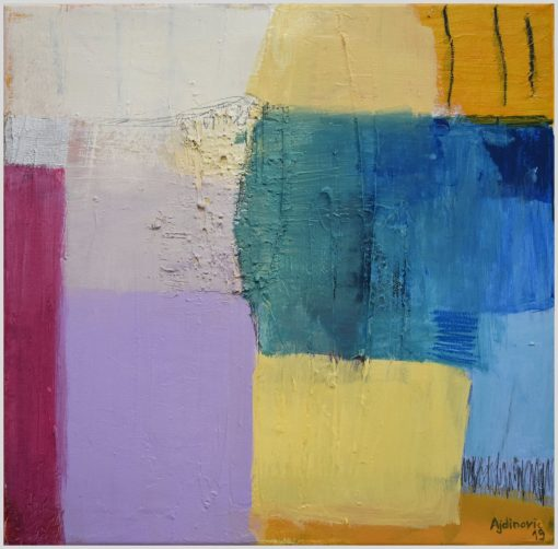 Moderna apstrakcija manji format, umjetnička slika na platnu Ajdinović