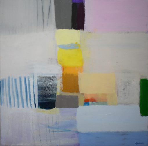 Pejzaž umjetnička slika na platnu, moderna apstrakcija Ajdinović Ranko