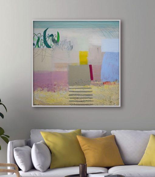 Pejzaž na platnu velika moderna slika za apartman, kuću ili ured Ajdinović_Unutarnji pejzaž O 11