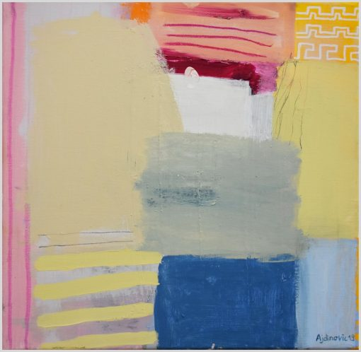 Moderna slika apstrakcija unutarnji pejzaž o 15