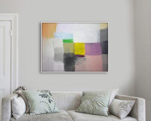 Umjetnička slika pejzaž u apstraktnom stilu Ajdinović Ranko