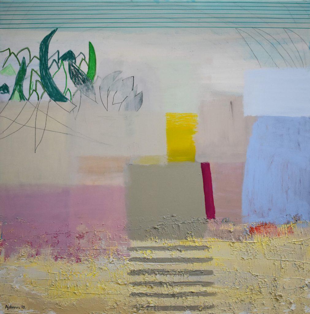 Umjetnička slika Ajdinović Ranko apstrakcija na platnu_Unutarnji pejzaž O 11