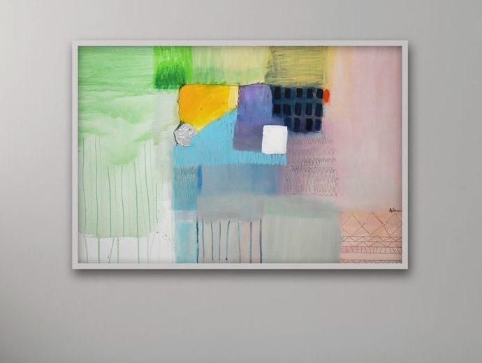 Apstraktna slika Ranka Ajdinovića akademskog slikara za moderni stan