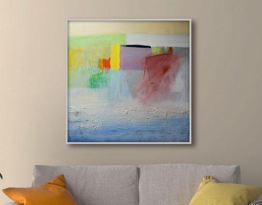 Akademski slikar apstraktna velika slika Ajdinović Ranko