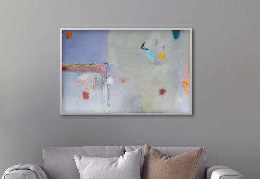 Moderna slika apstrakcija Ranka Ajdinovića vodoravni format za ured i stan