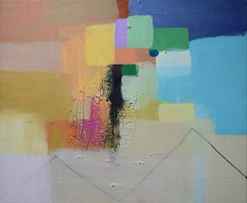 Moderna umjetnost ajdinović ranko umjetnička slika apstrakcija na platnu kompozicija sa 9