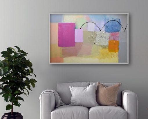 moderna-slika-toplih-boja-apstrakcija-Ranka-Ajdinovića-kompozicija sa 7 (1)