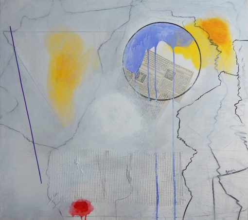 Bijela apstraktna slika Ajdinović Ranka