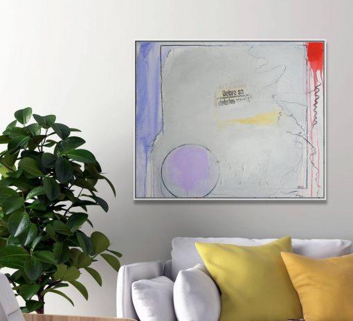 Moderna bijela slika umjetnički rad na platnu apstrakcija za kuću Ajdinović