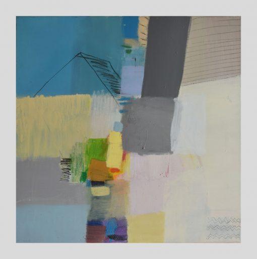 Moderna apstrakcija žuto plava Ajdinović