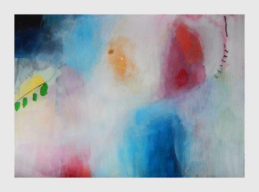 Velika crveno plava umjetnička slika Ajdinović