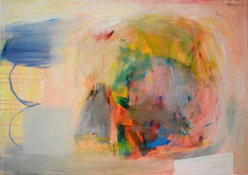 Ajdinović Ranko umjetnička slika apstrakcija na platnu Novi svijet 5