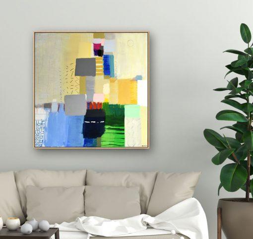 Moderna umjetnička slika apstrakcija Ajdinovićč Ranko