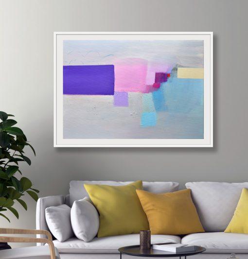 Umjetnička slika nježnih boja za uređenje interijera